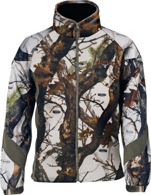 Hunting The Hybrid Jacket combines the dead silence and incredible warmth of fleece with a layer of Scent-Lok ClimaFleece . The high-loft Timber Fleece in the body of the jacket delivers the ultimate in windproof silence and insulates your core for heat-retaining comfort. Low-bulk raglan sleeves promote unrestricted freedom of movement that makes it ideal for bowhunters. The layer of activated-charcoal ClimaFleece adsorbs game-alerting odors. Full-zip front with high collar. Two zippered handwarmer pockets. Imported. Sizes: M-2XL. Camo patterns: Vertigo Grey, Mossy Oak Break-Up Infinity . - $56.88