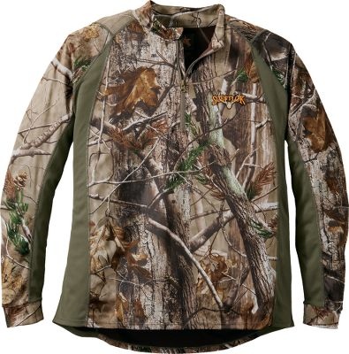 Hunting Ultralight long-sleeve tee delivers minimal bulk, retains heat and performs well as a layer on its own. Carbon Alloy technology combined with moisture-wicking, antimicrobial fabric reduces human odor and keeps you comfortable and dry. 1/4-zip front for added ventilation and convenient on and off. Imported. Sizes: M-2XL. Camo patterns: Realtree XTRA, Realtree AP, Mossy Oak Break-Up Infinity. Size: MEDIUM. Color: Mo Break-Up Infinity. Gender: Male. Age Group: Adult. Type: Pullovers. - $51.99