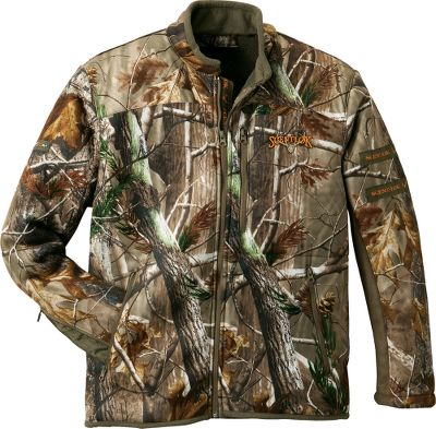 Hunting Details like a safety-harness access opening in the back of jacket and gear hanger on the sleeve make this odor-adsorbing ScentLok Mens Full Season Recon Jacket as bowhunter-friendly as they come. ScentLoks Carbon Alloy has an increased spectrum of odor adsorption, in addition to the ability to target specific odors better than activated carbon alone. Sherpa fleece lining increases warmth, and water-resistant shoulder panels repel moisture for more comfort during cold weather. Contoured sleeves ensure a custom fit for reduced string slap and have zippered openings for easy on and off. Articulated elbows promote the full range of movement needed when drawing a bow. Fleece-tipped collar for a soft feel against the neck. Imported. Sizes: M-2XL. Camo pattern: Realtree XTRA. Size: MEDIUM. Color: Realtree Xtra. Gender: Male. Age Group: Adult. Pattern: Camo. Material: Fleece. - $89.99