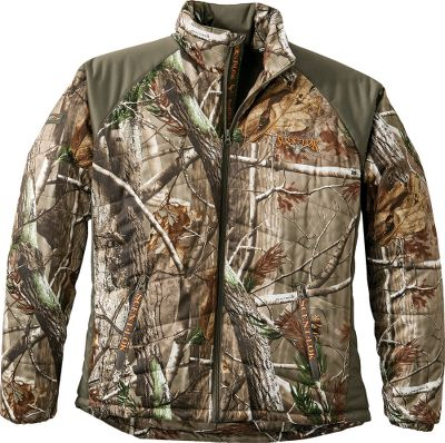 Hunting Quilted 150-gram midloft insulation and fleece underarm panels provide warmth and silence thats critical for late-season hunts. Advanced Carbon Alloy technology broadens the odor-adsorbing spectrum. High-performance fused shell offers maximum flexibility with wind and rain resistance. Fleece-lined body for additional warmth. Silky-smooth sleeve liners provide easy on and off. Safety harness access point on the back. Two extra-large zippered pockets for carrying essentials. Imported.Sizes: M-2XL.Camo pattern: Realtree AP - $179.99