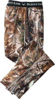 Hunting Scent-Lok's moisture-wicking base-layer Mid Weight pants perfectly blend moisture management with odor control, adding a new solution to your scent-control strategy. This polyester-blended garment is antimicrobial treated to control odor-causing bacteria. Ideal for cooler days or cold days with high activity. Imported. Sizes: M-2XL.Camo pattern: Vertigo Tan. - $19.88