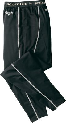 Hunting Scent-Lok's moisture-wicking base-layer Heavy Weight pants perfectly blend moisture management with odor control, adding a new solution to your scent-control strategy. This polyester-blended garment is antimicrobial treated to control odor-causing bacteria. Keeps you warm, dry and comfortable in cold-weather conditions. Imported. Sizes: M-2XL. Color: Black. - $19.88