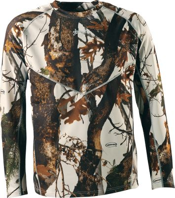 Hunting Scent-Lok's moisture-wicking base-layer Heavy Weight top perfectly blends moisture management with odor control, adding a new solution to your scent-control strategy. This polyester-blended garment is antimicrobial treated to control odor-causing bacteria. Keeps you warm, dry and comfortable in cold-weather conditions. Imported. Sizes: M-2XL.Camo pattern: Vertigo Grey. - $24.88