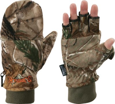 Hunting Keeps hands extremely warm, yet still has the needed dexterity when its time to reload or make the shot by flipping the top over to expose your fingers. Features Scent-Lok odor control. Imported. Sizes: M-XL. Camo pattern: Realtree AP. - $39.99