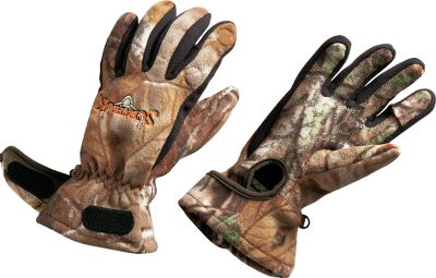 Hunting Engineered to keep archers hands warm with Timber Fleece construction. Proven Scent-Lok odor control. Wrists wrap around the forearms to accommodate a release. Magnetic closure. Imported. Sizes: M-XL.Camo pattern: Realtree AP. - $34.99