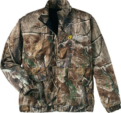 Hunting Your new odor-management game plan. This full-zip bomber-style jacket has an innovative safety-harness slit in its back for easy attachment. It also has two lower snap pockets, an angled chest pocket with snaps, elastic cuffs and a wind-blocking, stand-up collar. Its versatile enough as a stand alone during warm-weather hunts or for layering during late-season, cold-weather hunts with the added bonus of ScentBlocker. The SPF 60 ScentBlocker Cold Fusion technology aids in odor control, allowing you to get closer to your target than you ever thought possible. 4 Direction Stretch provides an excellent range of motion and fit. Moisture-wicking and breathable, the XLT Series will keep you cool when its hot and warm when its cold. Imported.Sizes: M-2XL.Camo pattern: Realtree AP. - $59.88