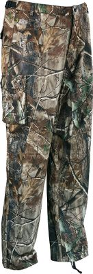 Hunting Your new odor-management game plan. These pants have a classic six-pocket construction two side pockets, two rear and two button-flap cargo pockets. They re versatile enough as a stand alone during warm-weather hunts or for layering during late-season, cold-weather hunts with the added bonus of ScentBlocker. The SPF 60 ScentBlocker Cold Fusion technology aids in odor control, allowing you to get closer to your target than you ever thought possible. 4 Direction Stretch provides an excellent range of motion and fit. Moisture-wicking and breathable, the XLT Series will keep you cool when it's hot and warm when it's cold. Adjustable cuffs and waist with belt loops. Imported.Sizes: M-2XL.Camo pattern: Realtree AP . - $56.88