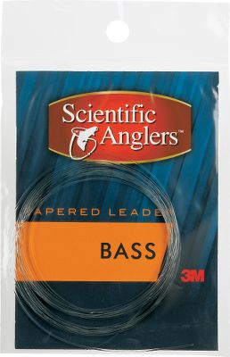 Fishing Smallmouth and largemouth are tough customers. You need a specialized leader to handle them. This leader has an extra-heavy butt and powerful taper to turn over air resistant bugs and poppers and go toe-to-toe with big bass. Maximum knot strength while retaining balance of properties. Low memory means less coiling. Length: 8 ft. Sizes: 8, 10, 12-lb. test. Type: Freshwater Leaders. 8lb. - $2.88