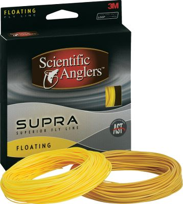 Flyfishing A top quality, all-purpose fly line, Scientific Angler's new Supra floating line gives you Advanced Shooting Technology for longer casts and stealthy presentation. Perfect for all weather conditions, the Supra lines feature improved flotation, castability and durability. The WF taper incorporates mid-length heads and individual weight-specific front tapers. Color: Sunrise. Type: Floating Freshwater. - $40.88