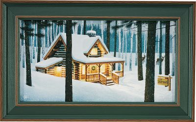 Visitors to your home will know that nature is an important part of your life when they are greeted by the Kennedy Personalized Cozy Evening (cabin) print. Hand-personalized with a maximum of two lines, 11 characters per line. Prints are not framed behind glass. To ensure they retain their original colors, each is sealed with a UV-resistant coating. For indoor use only. Made in USA. Dimensions: Framed - 12H x 19.5W. - $99.99