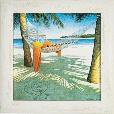 Visitors to your home will know that nature is an important part of your life when natural scenes greet them. Hand-personalized with the names or initials of your choice at no additional charge. Solid wood frame. Comes ready to hang with saw-tooth hanger on the back. Prints are not framed behind glass. To ensure they retain their original colors, each is sealed with a UV-resistant coating. For indoor use. Made in USA. Dimensions: Framed - 16-1/2H x 16-1/2W. Color: Natural. - $99.99