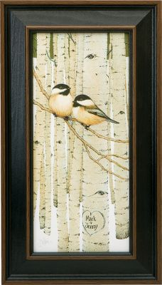 Visitors to your home will know that nature is an important part of your life when they are greeted by this heart-warming print. For indoor use. This print may be personalized with a maximum of two lines, 12 characters per line. Prints are not framed behind glass. To ensure they retain their original colors, each is sealed with a UV-resistant coating. Made in USA. Dimensions: 17-1/2H x 10W. - $99.99