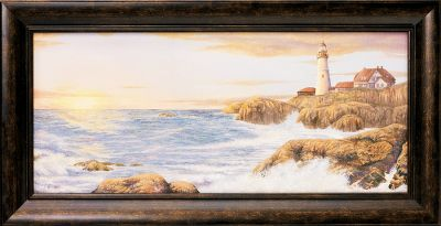 You can almost feel the crashing waves and see the searching lighthouse beacon in the Kennedy Personalized Breaking Dawn Lighthouse print. Each canvas print is hand-personalized with the names or initials of your choice at no additional charge. Solid wood frame. Comes ready to hang with sawtooth hanger on the back. Prints are not framed behind glass. To ensure they retain their original colors, each is sealed with a UV-resistant coating. For indoor use.Dimensions: Framed - 9H x 17-1/2W. - $79.99