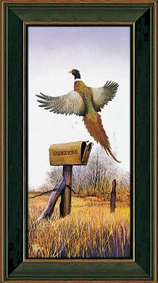 Hunting Visitors to your home will know that nature is an important part of your life when this scene greets them. Each canvas print is hand-personalized with the names or initials of your choice at no additional charge. Prints are not framed behind glass. To ensure they retain their original colors, each is sealed with a UV-resistant coating. Solid wood frame. Comes with a sawtooth hanger on the back. For indoor use. Allow up to two weeks for delivery. Made in USA. Framed dimensions: 9-7/8 x 17-3/8. - $99.99