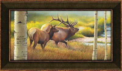 Hunting Visitors to your home will know that nature is an important part of your life when this natural scene greets them. Each museum-quality canvas print is hand-personalized with the names or initials of your choice at no additional charge. Solid-wood frame. Comes ready to hang with a sawtooth hanger on the back. Prints are not framed behind glass. To ensure they retain their original colors, each is sealed with a UV-resistant coating. For indoor use. Allow up to two weeks for delivery. Made in USA. Dimensions: 10-1/2 x 17. Color: Natural. - $99.99