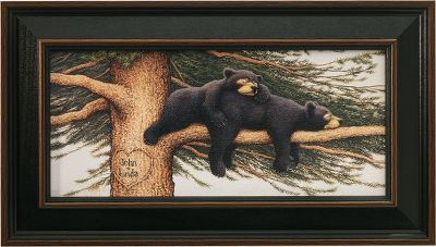 Visitors to your home will know that nature is an important part of your life when they are greeted by the Kennedy Personalized Cozy Bears print. Complete with a solid wood frame. Hand-personalized with a maximum of two lines, 10 characters per line. Prints are not framed behind glass. To ensure they retain their original colors, each is sealed with a UV-resistant coating. For indoor use only. Made in USA. Framed dimensions: 10 x 17-1/2. Note: Regarding personalization, please double check spelling if you are personalizing your print. The + sign is already included. - $99.99
