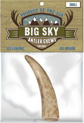 Hunting Made of all-natural antlers, these long-lasting chews help whiten teeth and freshen breath. Because they are allergy-free and organic, they are safe for any dog. Also, they will not splinter, so theyre safer than bones. Made in USA. Sizes: Large, Large Split, Medium, Small, Small Split, Antler Base. Size: Small. - $5.24