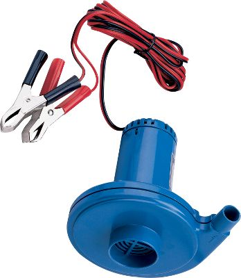 Motorsports This 12-volt electric air pump delivers .60 psi. Cigarette lighter adaptor. Comes with multiple valve adapters to fit boats and other inflatables. Type: Samll Boat Accessories. - $27.88