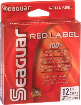 Fishing With 30% more knot strength than off-brand fluorocarbon line, high-density Red Label line offers bite-detecting sensitivity and premium, impact- and abrasion-resistant durability. Its made with 100% fluorocarbon resins and Seaguars exclusive extrusion process for high-strength toughness and softness. Clear fluorocarbon is virtually invisible to fish and much less visible underwater than traditional monofilament lines. Rated for fresh- or saltwater fishing. UV- and chemical-resistant. Color: Clear. Lb. Test Dia. (in.) Size (yards) 4 0.006 250 6 0.008 250 8 0.009 250 10 0.010 250 - $14.99