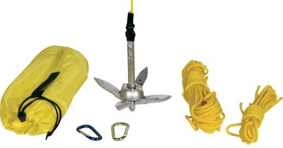 Kayak and Canoe Ideal for anglers in kayaks and other small watercraft, this kit includes a folding 2-lb. anchor, 50 ft. of anchor line and a system to let you operate the anchor remotely from the cockpit. Carry case included. - $37.99