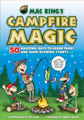 Camp and Hike Let famous magician Mac King take you on a fun-filled journey through the world of magic. This entertaining book features dozens of easy-to-learn magic tricks and stunts that can be performed with rope, hats, bandannas, knives, coins, twigs and anything else found in and around camp. Discover: how to bake a cake in a cap; tie a knot with one hand; instantly grow a plant; and turn a bare twig into a leafy one. Macs easy-to-follow instructions are brought to life by comic illustrator Bill King. 176 pages. Softcover. - $12.95