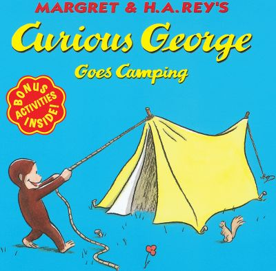 Camp and Hike George and the man with the yellow hat are going camping! George tries to be helpful, but after he upsets a neighboring camper, he is chased into the woods and gets lost. Before long, an encounter with a cute forest creature throws George into a chain of outrageous events that allows him to find a way to be helpful after all. 24 pages. Softcover. Color: Yellow. Age Group: Kids. - $3.95