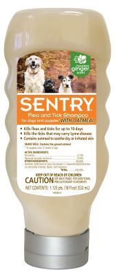 Hunting Give your four-legged pal the care and attention he or she needs with Sentrys line of Flea and Tick shampoos. Available: Sentry Oatmeal Flea Tick Shampoo For Dogs Kills fleas and ticks up to 10 days. PH balanced for a pets coat, it cleans, deodorizes and conditions. Size: 18 oz. Sentry Tropical Breeze Flea Tick Shampoo For Dogs A tried-and-true formula that kills fleas and ticks for up to 10 days. PH-balanced for a pets coat, it cleans, conditions and has a great tropical breeze fragrance. Size: 18 oz. - $9.99