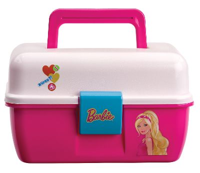 Fishing Kids love to fish. Make it even more enjoyable by giving them their own fun Shakespeare Kids Character Tackle Box. This multipurpose box features a removable tray and a colorful waterproof character label of their choice on the lid. Available: Barbie, Cars, Princess, Spiderman, Frozen. Type: Tackle Boxes. - $9.99