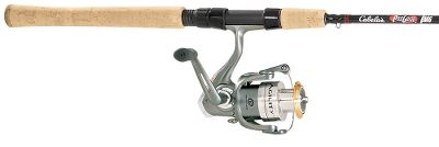 Fishing Get great value and performance when you pair the Shakespeare Agility reel with a Cabelas Pro Guide Series rod. The Agility spinning reel has seven ball bearings for ultrasmooth retrieves. The one-way clutch instant anti-reverse ensure sure, positive hooksets. Lightweight graphite body with a metal sideplate for added durability. Anti-twist titanium line roller and Sure-Click bail minimizes tangles. Machine-cut brass pinion gear and smooth multidisc drag system for whipping the big ones. Left/right convertible fold-down handle. On/off anti-reverse. We believe our Pro Guide rod series is the best available in this price range. We updated our Pro Guide rods with a layer of cross-weave graphite up to the stripper guide for added strength in the butt section, improved the graphite reel seats with padded hoods that hold the reel more securely and added a hook keeper. Each rod features an IM6 100% graphite blank that delivers an awesome combination of strength and sensitivity. Fast tip actions allow quick, precise casts and rapid hooksets. Portuguese cork handles. Diamond wraps for a custom-rod appearance. Shakespeare Agility Spinning Reel Reel Model Line Capacity (yds./lb. test) Gear Ratio Bearings Weight (oz.) Class* AGL825 115/4 5.2:1 6+1 7.4 oz. UL/FW AGL830 115/6 5.2:1 6+1 8.7 oz. L/FW AGL835 145/8 5.2:1 6+1 10.3 oz. ML/FW *Class: UL=Ultralight, L=Light, ML=Medium Light, FW=Freshwater Type: Spinning Combos. Rod Model: PGS501-1. Reel Model: AGL825. Power: Ultra Light. Pieces: 1. Lure Weight (oz.): 1/16 to 3/8. Line Weight: 2 to 6. Length: 5'. Reel Pgagl5025cboa. - $39.88