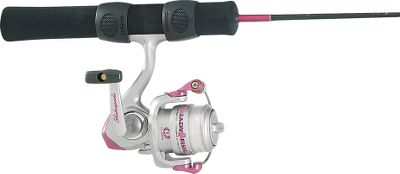 Fishing You'll look pretty in pink with this pastel ice-fishing combo. Genuine Ugly Stik blank slip-ring foam handle. BVLDG style guides with stainless steel inserts. Pirus 20 reel filled with premium 4-lb line. - $11.89