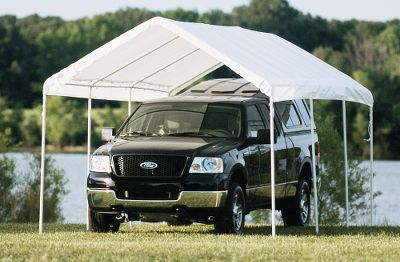 Camp and Hike Protect your vehicle or enjoy a shaded backyard party under an expandable, event-sized canopy. Quickly and easily set up the sturdy 10-ft. x 20-ft. canopy with slip-together, all-steel tubing. From there, you can transform this canopy into a fully enclosed shelter or expand it into a gigantic canopy that covers a 24-ft. x 20-ft. area. For all three forms, the patented Twist Tite tensioning system squares up frames for a clean, finished look. The fitted and valanced cover is 100% waterproof. Its triple-layer, polyethylene ripstop fabric is treated with fade blockers, anti-aging and anti-fungal agents. Includes eight footplates, a four-wall enclosure kit, an extension kit and spike anchors. Imported.Number of legs: 14.Canopy and enclosed shelter: 10'L x 20'W x 9'6H. Event canopy: 24'L x 20'W x 9'6H.Eave height: 63 Type: Canopy/Screenhouses. Tent Style 10'x20'. Model 3n1 Canopy. - $329.99