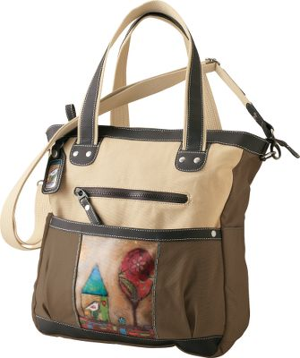Distinct without being distracting. Eco-friendly construction with 100% heavy cotton canvas colored with nontoxic dyes, vegan leather accents and recycled aluminum hardware. Imported.Dimensions: 15H x 13-1/2W x 4-1/2D.Colors: Color My World, 2 Songs, Surfer Girl. - $99.95