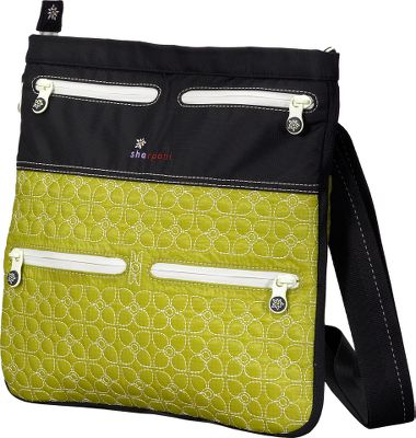 Artful embroidery and a low-profile, expandable design combine fashion and function in this bag. Made of 30-denier ripstop nylon with silicone-coated paneling and floral trim. Tablet and e-reader compatible for convenience. Zippered exterior pockets. Adjustable shoulder strap. Built-in key fob. Imported.Dimensions: 12L x 12.5W x 1D (2.5D expanded).Color: Citronelle. - $49.88