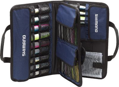 Fishing Designed and developed exclusively for Shimano's Butterfly Jigs, this Storage Bag holds 37 individual lures in their own mesh pocket. The case is made of 600-denier ripstop nylon to stand up to years of use on your fishing boat. Front mesh storage pocket holds extra gear like split rings and leaders. - $59.99