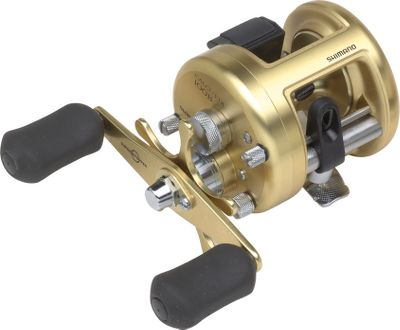 Fishing The ultimate in simplicity. Cold-forged aluminum frame, aluminum spool and sideplates provide the strongest, tightest tolerances for excellent smoothness and durability. The Anti-Rust Bearings are 10x more corrosion-resistant than standard stainless steel. The Variable Brake System uses centrifugal force rather than magnets to aid in controlling the cast for increased distance and adjustability. The Super Stopper one-way roller bearing eliminates backplay for solid hooksets. Dartainium Drag material provides a wide range of drag settings and makes this the smoothest Shimano drag system ever. Septon handles are soft to the touch and easy to grip, even when wet. Three thumb systems allow for quick takedown and easy maintenance. Lo-Mass ported spool and crossbar on model CT200GTB. Color: Stainless Steel. Type: Casting Reels. - $209.99