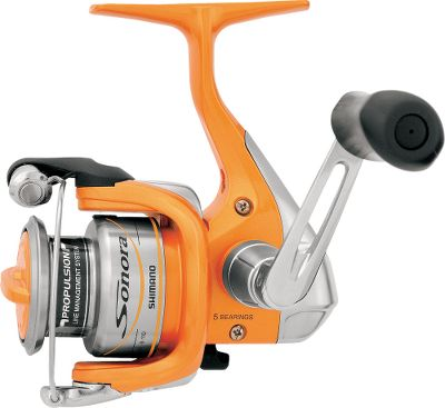 Fishing Anyone who wants smooth Shimano performance at a reasonable price will definitely want to take this reel out for a spin. Four shielded stainless steel bearings promote smooth casts and retrieves and a Super Stopper II anti-reverse roller bearing ensures rock-solid hooksets. Varispeed oscillation results in even line lay that provides excellent castability and manageability. Fluidrive II polished oversized drive gear increases the efficiency of your retrieves. DynaBalance rotors eliminate wobble during a retrieve. Propulsion spool lip provides longer casting distances while preventing backlashes. Power Roller III is an oversized line roller that reduces twist from casting and retrieving. Lightweight graphite frame, sideplate and rotor. S-Arm Cam keeps slack line in contact with the line roller to further reduce the chance of tangles and line cuts. S-Guard prevents impact damage to the frame and rotor. Cold-forged aluminum spool and lightweight graphite frame, sideplate and rotor. Ported handle shank. Rubber handle grips. Color: Stainless Steel. - $37.88