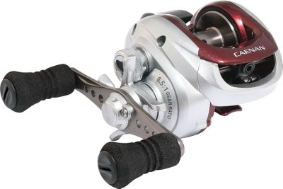 Fishing High-speed gearing and compact graphite construction offer reel-and-repeat castability with crossover potential for landing freshwater and inshore species. The backlash-preventing VBS casting system manages spool speed for more casting distance. Its smooth, six-bearing drive features shielded, stainless steel ball bearings for corrosion-resistant durability. Lightweight, high-strength aluminum Low-Mass spool provides more line capacity without adding extra bulk. Its disengaging levelwind system reduces line contact, using casting effort more efficiently for line-shooting power. Super Stopper roller bearing eliminates backplay for keeping line tight. Assist Stopper anti-reverse delivers solid hooksets. Ergonomic Quickfire II clutch thumb bar. Friction-reducing ceramic line guide. Drilled handle shank. Recessed reel foot. Nonslip EVA grips. Color: Stainless Steel. - $39.88