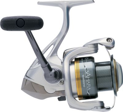 Fishing A Fluidrive II oversized drive gear boosts the efficiency of every retrieve. Propulsion spool lip provides longer casting distances while preventing backlashes. Power Roller III reduces twist when retrieving. Three A-RB ball bearings for smooth retrieves, and a Super Stopper II anti-reverse roller bearing eliminates backplay and enhances your hook-setting power. S-arm cam keeps slack line in contact with the line roller to further reduce the chance of tangles and line cuts. Slow oscillation promotes even line lay. Floating shaft reduces friction between the pinion gear and spool shaft for smoothness and durability. DynaBalance rotors eliminate wobble during retrieves. Solid, nonflex aluminum frame. Cold-forged aluminum spool. Machined-aluminum handle. Lightweight graphite sideplate and rotor. Rubber handle grips. Sealed in clear see through plastic packaging. - $59.88