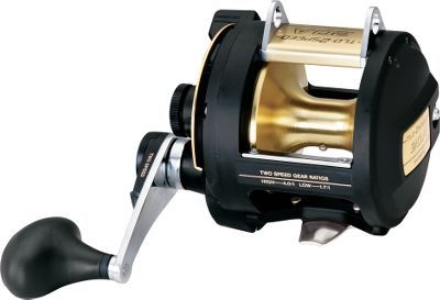 Fishing The sturdy construction of the lightweight TLD reels will outperform most larger, heavier reels. The lightweight graphite frame and sideplate keeps weight down while keeping performance high. The lever drag lets you make precise adjustments while keeping your hand on the crank. Four stainless steel A-RB bearings are at least 10x more corrosion resistant than traditional stainless steel. Oversized gears and the barrel grip provide excellent fighting efficiency for large fish. All TLD reels have harness lugs and a bait clicker. The TLD50IILRSA was originally engineered to meet the needs of San Diegos long-range boats seeking hard-fighting yellowfin tuna. Its powerful drag-to-size ratio is especially suited for stand-up fishing, where maintaining freespool capability with heavy line is essential. Aluminum spool. Color: Stainless Steel. Type: Trolling Reels With Line Counters. - $289.99