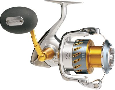 Fishing Unmatched in the field, this is the premier spinning reel for relentless inshore anglers and do-or-die tournament pros. The Stella represents the culmination of decades of Shimano technology, research and development. Element-blocking SW-Concept engineering builds on time-tested S-Concept ideals - smooth, silent, strong - by sealing out corrosive saltwater for proven reliability you can always bank on. It has a saltwater-resistant aluminum body and waterproof SW-Hyper Disk Drag for top-of-the-line performance after repeated drenchings and dunkings. Cold-forged Paladin gears, Fluidrive II polished gear surfaces, and a hardened, low-wear pinon gear preserve this reel's out-of-the-box smoothness for years of hard fishing. A performance-tuned, shielded A-RB 15-bearing system with Super-Stopper II and Assist-Stopper anti-reverse provides flawlessly smooth action and responsive power for instant hooksets with no backplay. High-end Propulsion Line Management System combines its innovative titanium-coated spool lip with pitch-perfect Aero Wrap II Oscillation for superior winding and even line lay that translates into longer casts with less kinks. Power Roller IV oversized line roller with a diamond-like DLC coating. Dyna-Balance eliminates wobble on fast retrieves. Direct Drive thread-in handle for increased power transmission. Maintenance ports for on-the-go lubrication without disassembly. Redesigned, more efficient bail trip. S-Arm Cam. Ergonomic, Septon handle grips. Stopperless design has no anti-reverse switch. Ceramic-coated spool. - $699.88
