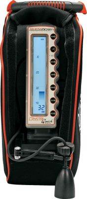 Entertainment The top-to-bottom high-speed LCD matches the water column and responds instantly to lure actions and fish movements. Ice Mode employs an internal heater that keeps the liquid crystals responding at high speeds in extreme cold. 9-amp. 12-volt battery and battery charger with quick-charge access. 200-kHz 20 single beam transducer. Includes soft case. Available: 200-kHz 20 Single Beam Transducer. Size: SHOWDOWN 5.6 SINGLE. - $399.99