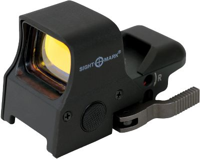 Hunting Ergonomic and lightweight, and helps shooters maintain both depth perception and peripheral vision. Sure Shot has a generous viewing area with four reticle types that can be adjusted for brightness. Parallax-corrected with unlimited eye relief. Sturdy shockproof construction with quick-detach rail mounting system. Size: ULTRA SHOT QD REFLEX. - $99.99