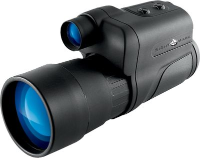 Hunting With a lightweight and durable design, the Nightfall nightvision monocular features Generation 1 nightvision technology that optimizes low-light conditions with integrated high-power infrared illumination to provide high-quality images and resolution. The 50mm lens has 4X magnification with a 12mm eye relief. A 1/4 socket allows for tripod mounting, making it ideal for spotting. The 3-volt power supply will operate for up to 72 hours on two AA batteries (not included). - $99.88
