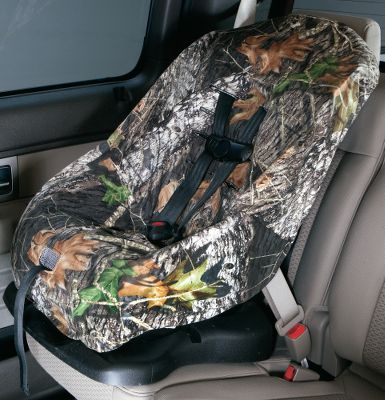 Motorsports Give your childs car seat an outdoor look. This fire-retardant seat cover is made of soft, 100% polyester tricot. Near- universal design with drawstring tightening system. Fits most infant, toddler and booster car seats from popular brands. Multiple shoulder-strap slots accommodate children and car seat setups of many sizes. Machine washable. Imported. Camo pattern: Mossy Oak Break-Up. Color: Camo. Age Group: Kids. Type: Child Seat Cover. - $15.88