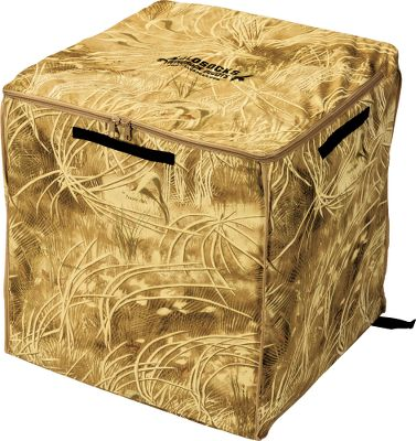 "Hunting Holds up to 170 SilloSocks feeder or sentry decoys. Easy-access, zip-open top and internal diagonal divider. Decoys lay flat for easy storage and transport. Made of heavy-duty nylon that stands up to pointed stakes. Heavy-duty zipper lid. Mesh backpack straps. Dimensions: 25""L x 26""W X 26""H.Camo pattern: Prairie Hide camo. - $29.99"