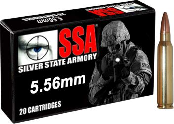 Hunting American-made quality and sole-source manufacturing ensure top-shelf performance from every round, at a price thats affordable for superior value. Silver State Armory leads the industry with its high-performance 6.8mm SPC ammo, and it also specializes in 5.56mm and 7.62x51mm rounds. SSA builds its ammo completely in-house to enforce the highest standards going so far as to make all their own brass cartridges to ensure field-proven accuracy, reliability and consistency. 20 rounds per box. Made in USA. Color: Silver. - $20.99