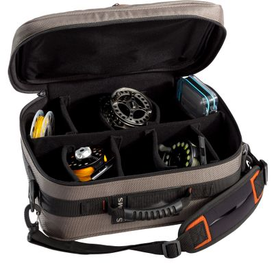 Flyfishing Protect and organize your reels and extra spools in this travel-friendly briefcase. Large 610-cu.-in. capacity interior features configurable dividers that hold up to 10 reels. It has padded walls and nonscratch brushed liner fabric. Compartments are deep enough to hold large saltwater and spey reels. Heavy-duty 1,680-denier ballistic-nylon shell fabric. Imported. Dimensions: 15L x 6W x 11H. Size: REEL BRIEFCASE. - $69.95