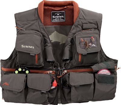 Flyfishing Quickly and conveniently access all your gear with this technical vest. 24 pockets provide ample room for tackle and other essentials, and two built-in retractors keep your fishing tools at the ready. Rugged and lightweight nylon construction with adurable water-repellant finish. Elastic drawcord at back waist for adjustable fit. Padded collar with stretch shoulders reduces fatigue and increases mobility. Imported. Sizes: S-2XL. Colors: Khaki, Greystone. Size: XL. Color: Greystone. Gender: Male. Age Group: Adult. Material: Nylon. Type: Vests. - $179.95