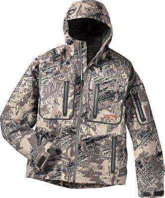 Hunting Sitka has developed a system of hunting gear, merging the latest technology together with a mountaineering philosophy. The best technology, fabrics, designs and construction create hunting gear that outperforms mere clothing. Its not just something you wear. This is a performance-driven system specifically created to be hunter-friendly. The top-of-the-line Coldfront Jacket is optimized for cold, wet weather. Its waterproof, breathable GORE-TEX three-layer soft shell blocks wind and winter moisture, and traps warmth and wicks moisture with a soft microfleece lining. The shell also features OptiFade camouflage from GORE the first and only concealment system ever scientifically designed around the way a hunters prey views the world. Its the only concealment system to combine a symmetry-disrupting macro-pattern with the fractal-geometry-based micropattern designed to become nothing in the eyes of prey at engagement ranges of 20 meters and beyond. Pit zips let you cool down without removing layers. Athletic fit and articulated sleeves for a full range of motion. Zippered waterproof chest and handwarmer pockets. Fully adjustable bomber hood offers a wide field of view. Laser-cut and microtaped seams. Imported.Sizes: M-2XL.Camo pattern: OptiFade Concealment Open Country. Type: Jackets. Size: Medium. Camo Pattern: OPTIFADE. Size Medium. Color Optifade. - $549.00