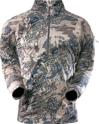 Hunting Utilizing antimicrobial technology, Sitkas lightweight, moisture-wicking Mens Zip T-Neck provides odor protection. Made of 100% polyester with four-way stretch for increased freedom of movement. Imported. Sizes: M-2XL. Camo patterns: OptiFade Concealment Open Country, OptiFade Concealment Forest. Size: M. Color: Optifade Opn Country. Gender: Male. Age Group: Adult. Material: Polyester. Type: Base Layer Tops. - $66.88